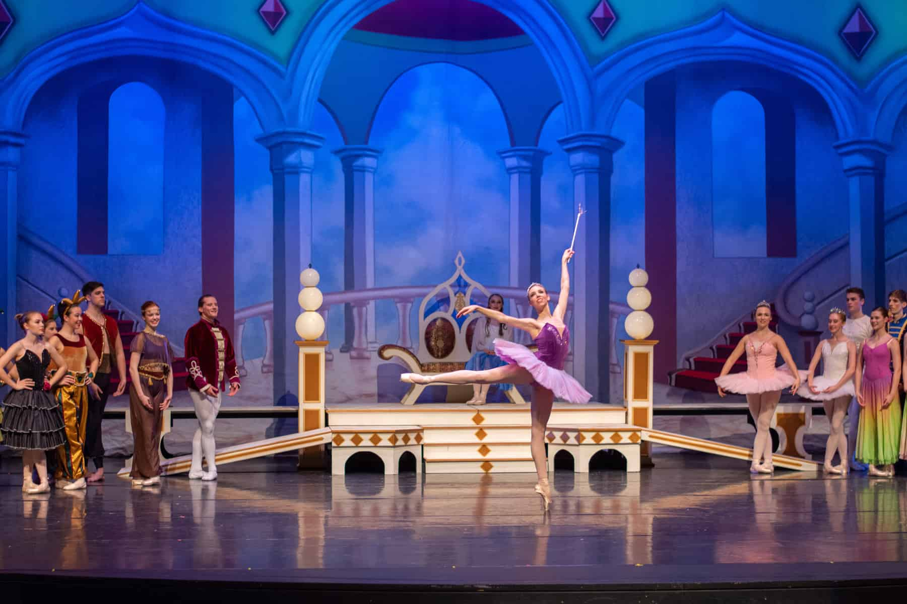 Photo: The Sugar Plum Fairy dancing in Ballet Chelsea's performance of The Nutcracker